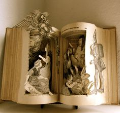 An altered book Fairy tales