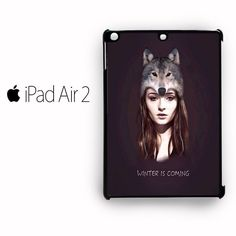 Game of thrones Wolf girl for custom case iPad Air 1/iPad Air 2