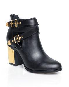 Black & Gold Booties