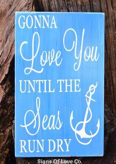 Beach Décor Signs Anchor Wall Room House Sign Nautical Nursery New Baby Print Love You Quotes Seas Ocean Boys Girls Baby Shower Carova Christmas Coastal House