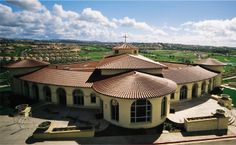 Church Laguna Niguel, CA Straight Barrell Mission Tile With Turret Tile®  2F22 Burnt Sienna
