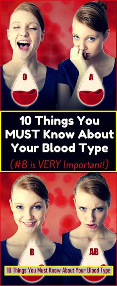 10 Things We All Need To Know About Our Blood Type !!