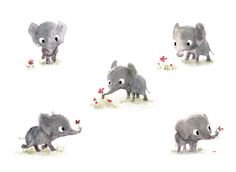 Some little elephants, by Syd Hanson