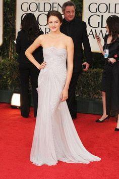 Shailene Woodley in Marchesa at 2012 Golden Globes