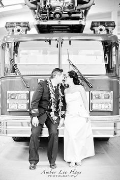 Firefighter Wedding by Amber Lee Hays Photography