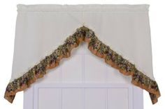 Ellis Curtain Kitchen Collection Tuscan Hills Grapes 60 by 35-Inch Ruffled Swag Curtains, Natural by Ellis Curtain. $26.75. Each swag is constructed with a standard 1-1/2-Inch rod pocket, 1-1/2-Inch header and ruffled border. Coordinating valances and tiers available thru Amazon; Additional Ellis Curtain Kitchen Collection patterns also available thru Amazon; Made in the USA. Conveniently machine washable making them practical for the kitchen; Measurements 60-Inch overall width...
