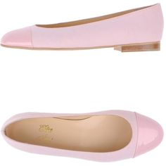 Chérie Amour Ballet Flats ($60) ❤ liked on Polyvore featuring shoes, flats, ballet flats, light pink, ballerina shoes, leather ballet flats, ballerina pumps, leather shoes and round cap