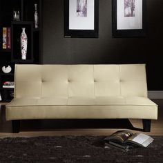 Faux Leather Mini Sofa Bed