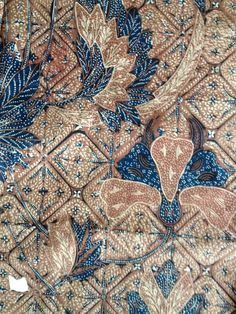 OLD - Vintage Peranakan Straits Chinese Javanese Indonesian Batik Tulis Fully Hand Drawn Dip Dye Wax Resist