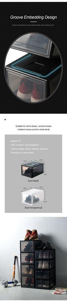 STORAGE Transparent Drawer Shoes Box – thebigblackfriday Teak Patio Furniture Use And Care When the Tool Organization, Organizing Tools, Hall Design, Shoe Storage, Storage Ideas, Diy Garden Decor, Diy Tools, Shoe Box, Cool Gadgets
