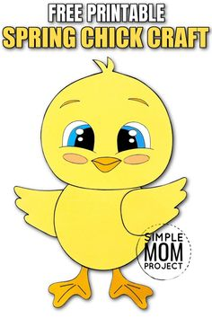 Share in the fun of simple cut and paste spring crafts with your kids using this cute baby chick craft. The free printable baby chick template is available right now and makes an ideal way to learn the Letter C! So whether you have a creative toddler who loves to learn or a preschooler searching for the latest art projects - this easy baby chick craft is just the activity for all. Create your cute baby chick craft today then share some pics on our pin right here! Easy Paper Crafts, Easy Crafts For Kids, Crafts To Do, Farm Animal Crafts, Advice For New Moms, Baby Chicks, Good Parenting, Toddler Preschool, Spring Crafts