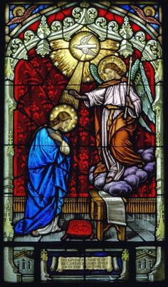 Annunciation to the Blessed Virgin Mary stained glass