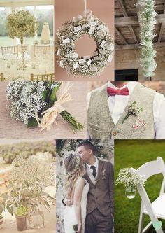 Gypsophila Wedding Flowers Mood Board :::;:;:;frenchweddingvenue.com::;:;:;:;:;:;:chez les rois