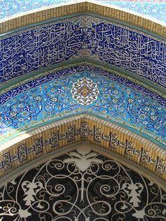 Tabriz mosque entrance: aka the blue mosque in Iran. Amazing craftsmanship!