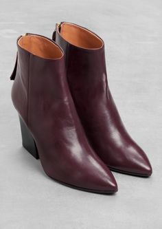 & Other Stories | Pointy Ankle Boots. An ultra-feminine and slim-fitting ankle boot, crafted from smooth leather.