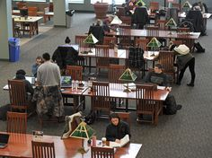 Erie County college students study for first-semester finals #college