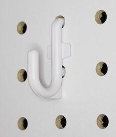 Peg Board Hooks White Locking Pegboard L Hooks 50 Pack Locking Peg Hooks 50 Pc. Kit No more loose wobbly pegs falling on the floor, these tough plastic pegboard hooks stay put !! 500 Pc. Kit Includes:
