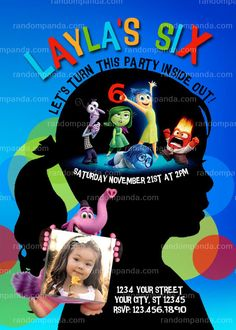 Inside Out Invitation Inside Out Party Inside by therandompanda