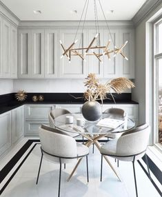 cozy dining room design ideas that looks awesome 17 ~ Modern House Design Farmhouse Style Kitchen, Modern Farmhouse Kitchens, Home Decor Kitchen, Kitchen Interior, Modern Interior, Kitchen Ideas, Kitchen Dining Sets, Condo Kitchen, Family Kitchen