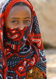 Africa | Afar girl in Danakil Desert, Eritrea | © Eric Lafforgue