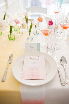 watercolor wedding ideas featured on @wedding chicks ! #roeymizrahievents #dipdyednapkins #ilovemyjob @Mikkel Paige