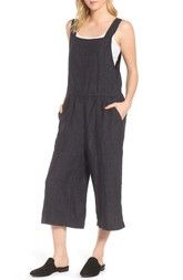 Eileen Fisher Woven Organic Linen Crop Overalls available at #Nordstrom