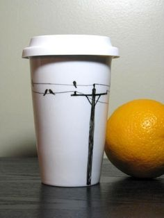 love this porcelain coffee cup!
