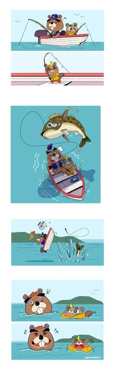 Video game logic 620089442433698994 - CJ learned to fish from his popop by Kelly Yoo (paper_machette) Animal Crossing Fan Art, Animal Crossing Villagers, Animal Crossing Memes, Pet Anime, Anime Animals, Cute Animals, Draw Animals, Flamingo Illustration, Pokemon