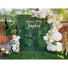 baby shower decorations 630504016571602441 - Source by Idee Baby Shower, Boy Baby Shower Themes, Baby Shower Gender Reveal, Baby Boy Shower, Baby Shower Parties, Jungle Theme Baby Shower, Safari Baby Shower Cake, Balloon Decorations Party, Balloon Garland