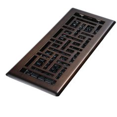 Decor Grates 4 in. x 14 in. Oil Rubbed Bronze Steel Oriental Register  $19 @ Home Depot