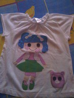 Camiseta de mi hija hecha ha mano