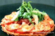 Тартлетки с помидорами и расплавленным пармезаном