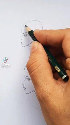 Art Drawings Beautiful, Art Drawings Sketches Simple, Pencil Art Drawings, Doodle Drawings, Easy Drawings, Drawing Techniques, Art Tips, Art Tutorials, Art Lessons