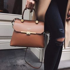 Bag: tumblr brown jeans denim blue jeans ripped jeans satchel brown leather