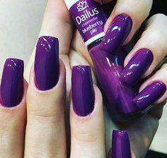 59 Ideas For Fashion Art Makeup Nail Polish Fabulous Nails, Perfect Nails, Gorgeous Nails, Love Nails, Style Nails, French Gel, Purple Nail Designs, Purple Nails, Purple Glitter
