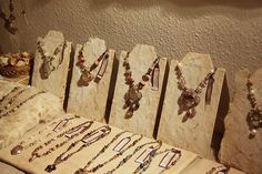 cutest homemade jewelry store display | Mannequin for Jewelry Display How to Make Your Own Necklace Displays ... #JewelryDisplays