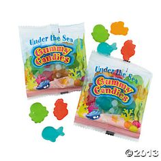 Aquatic Character Gummy Fun Packs