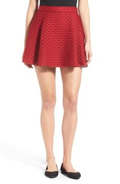 Lush Pleated Fit & Flare Miniskirt | Nordstrom