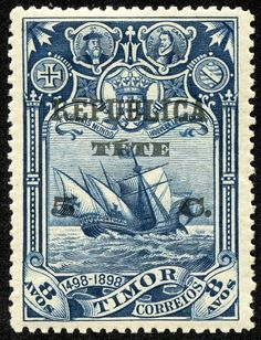 Discovery of sea route to India 1898 old postage stamp - Portugal Old Stamps, Rare Stamps, Vintage Stamps, Vintage Labels, Vintage Posters, Timor Oriental, Postage Stamp Art, Mail Art, Stamp Collecting