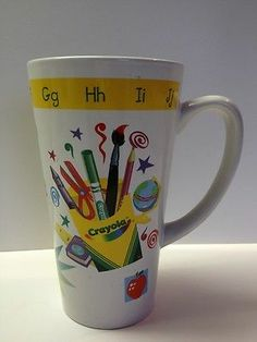 Crayola Crayon Large Coffee Mug School Bus   h
