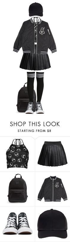 """Bring Your A-Game"" by pizza-planetarium ❤ liked on Polyvore featuring Boohoo, Alice In The Eve, Rip Curl, Converse and Miss Selfridge"