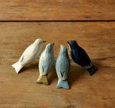 Hand Painted Wooden Birds