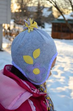 ikat bag: Winter Hats Part Two:  how to make a fleece winter hat.  this one with…