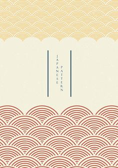 #Japanese #template #wave #pattern #vector #Sun #Fuji #mountain #background #Asian #style. #Curve #hand #drawn #sea #elements in #oriental #layout #design