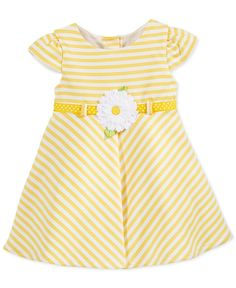 Sweet Heart Rose Baby Girls' Yellow Stripe Dress