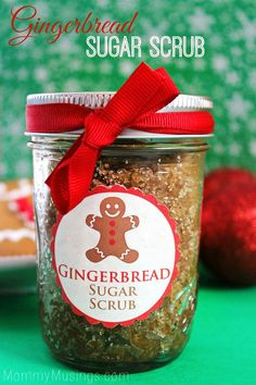 Gingerbread Sugar Scrub - EASY DIY Christmas Gift Idea