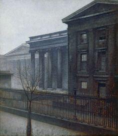 Vilhelm Hammershøi, From the British Museum, Winter (1906)