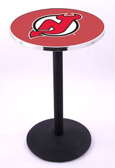 Holland New Jersey Devils Round Base Pub Table