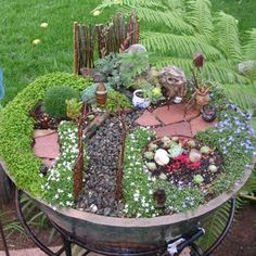 I'm making a fairy garden for my little girls one day
