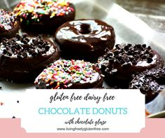 Simple gluten free and dairy free chocolate cake donuts. Perfect treat for your donut craving.